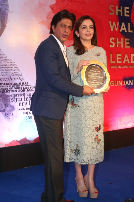 Nita Ambani with Shah Rukh Khan at the Book Launch.jpg